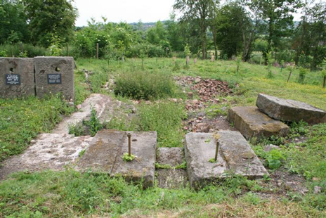 Califat colliery first excavation site, engine blocks